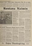 Montana Kaimin, November 21, 1961