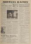 Montana Kaimin, May 25, 1962