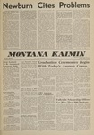 Montana Kaimin, June 1, 1962