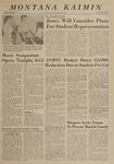 Montana Kaimin, May 3, 1963