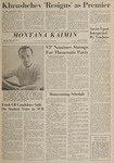 Montana Kaimin, October 16, 1964