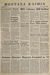 Montana Kaimin, January 13, 1965
