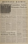 Montana Kaimin, February 18, 1966
