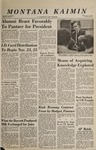 Montana Kaimin, November 16, 1966