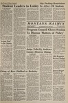 Montana Kaimin, January 26, 1967