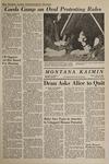 Montana Kaimin, April 27, 1967
