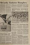 Montana Kaimin, October 30, 1968