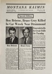 Montana Kaimin, November 9, 1969
