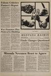 Montana Kaimin, November 25, 1969
