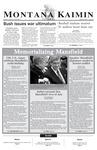 Montana Kaimin, March 18, 2003