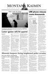 Montana Kaimin, September 25, 2003
