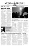 Montana Kaimin, September 26, 2003