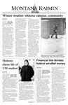 Montana Kaimin, January 27, 2004
