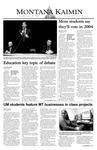 Montana Kaimin, April 29, 2004