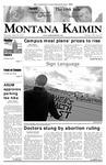 Montana Kaimin, April 26, 2007
