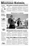 Montana Kaimin, November 1, 2007