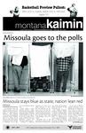 Montana Kaimin, November 3, 2010