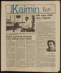 Montana Kaimin, September 27, 1985