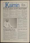 Montana Kaimin, April 15, 1986