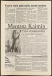 Montana Kaimin, November 19, 1986