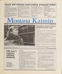 Montana Kaimin, January 7, 1987