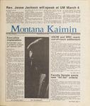 Montana Kaimin, February 20, 1987