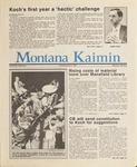 Montana Kaimin, June 4, 1987