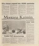 Montana Kaimin, September 30, 1987