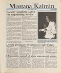 Montana Kaimin, October 15, 1987