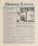 Montana Kaimin, November 6, 1987