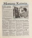 Montana Kaimin, November 20, 1987