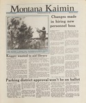 Montana Kaimin, November 24, 1987