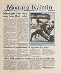 Montana Kaimin, January 13, 1988