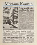 Montana Kaimin, January 20, 1988