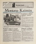 Montana Kaimin, January 22, 1988