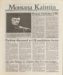 Montana Kaimin, February 18, 1988