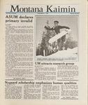Montana Kaimin, March 1, 1988