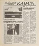 Montana Kaimin, November 16, 1988