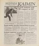 Montana Kaimin, January 25, 1989