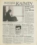 Montana Kaimin, January 27, 1989