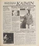 Montana Kaimin, May 23, 1989