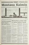 Montana Kaimin, March 7, 1991