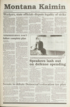 Montana Kaimin, April 16, 1991