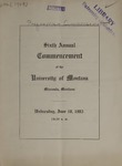 University of Montana Commencement Program, 1903