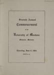 University of Montana Commencement Program, 1904