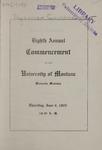 University of Montana Commencement Program, 1905