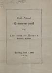 University of Montana Commencement Program, 1906
