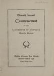 University of Montana Commencement Program, 1908