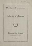 University of Montana Commencement Program, 1910