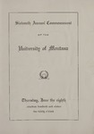 University of Montana Commencement Program, 1911